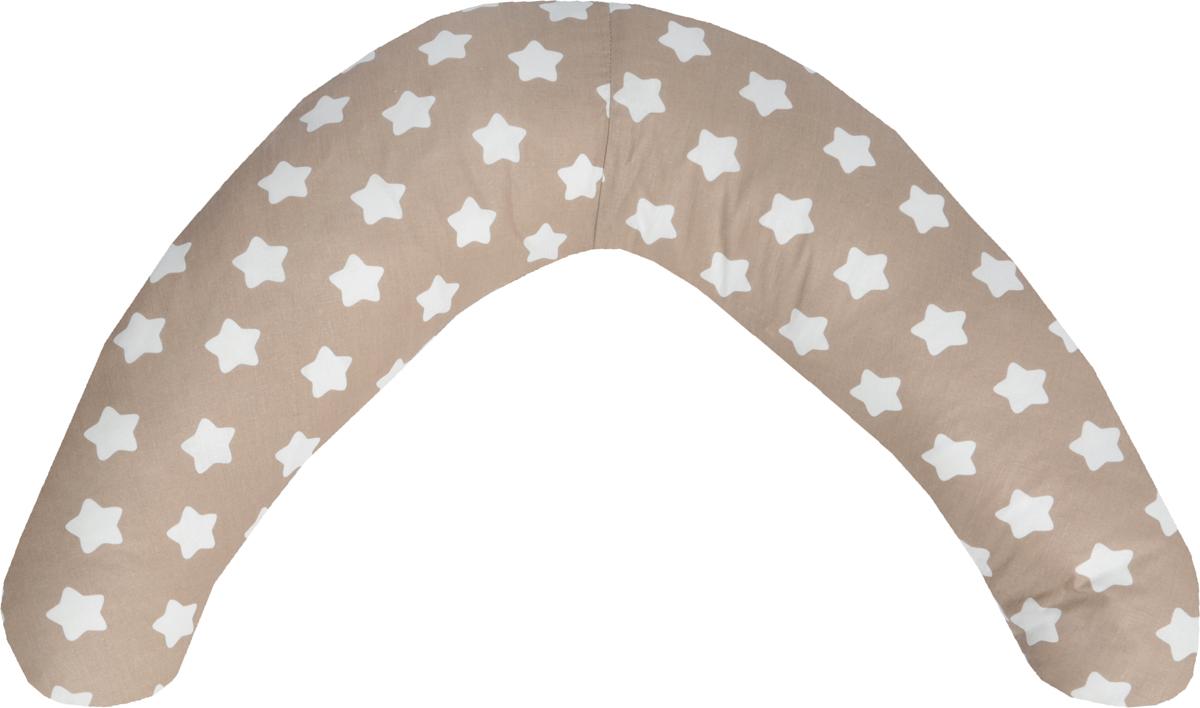Bio-Textiles Подушка для кормящих и беременных Бумеранг-мини цвет белый коричневый