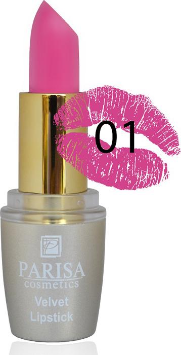 Фото - Parisa Помада для губ Mate Velvet, тон №01 гранат, 3,8 г parisa помада для губ mate velvet тон 54 гранатовый иней 3 8 г