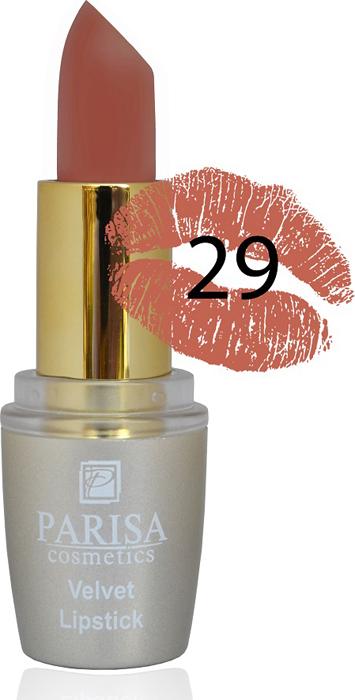 Фото - Parisa Помада для губ Mate Velvet, тон №29 постельное кружево, 3,8 г parisa помада для губ mate velvet тон 10 персиковый натурель 3 8 г