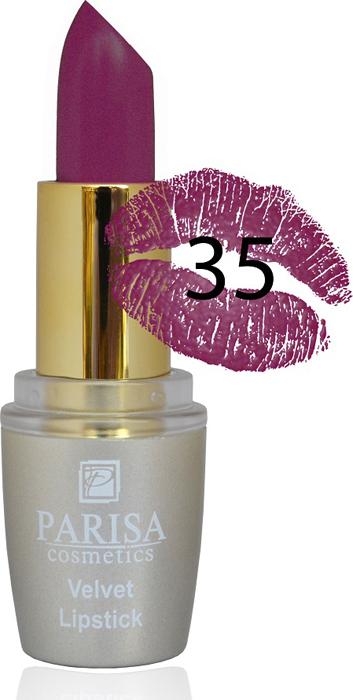 Фото - Parisa Помада для губ Mate Velvet, тон №35 атласная слива, 3,8 г parisa помада для губ mate velvet тон 10 персиковый натурель 3 8 г