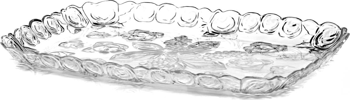 Поднос Альтернатива Изобилие, цвет: прозрачный, 28 х 41 см поднос альтернатива витамины 49 33 2 5 см