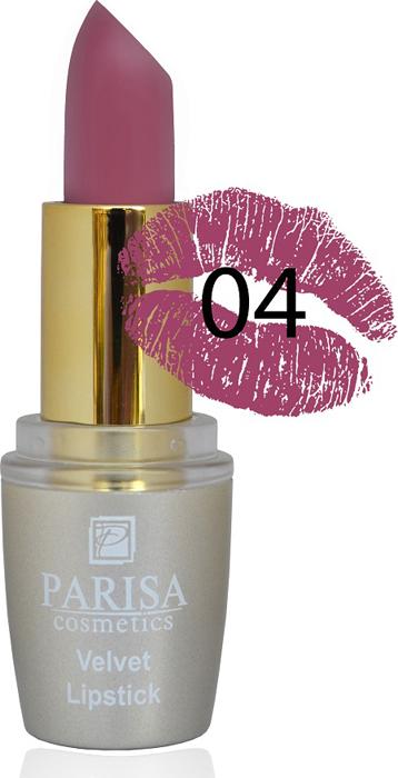 Фото - Parisa Помада для губ Mate Velvet, тон №04 роскошный марон, 3,8 г parisa помада для губ mate velvet тон 54 гранатовый иней 3 8 г