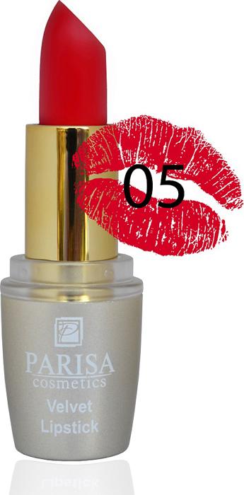 Фото - Parisa Помада для губ Mate Velvet, тон №05 красная королева, 3,8 г parisa помада для губ mate velvet тон 10 персиковый натурель 3 8 г