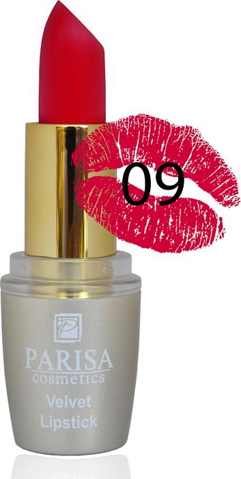 Фото - Parisa Помада для губ Mate Velvet, тон №09 страстный поцелуй, 3,8 г parisa помада для губ mate velvet тон 10 персиковый натурель 3 8 г