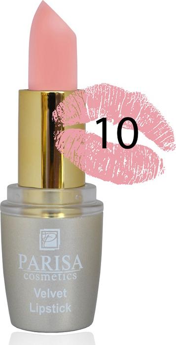 Фото - Parisa Помада для губ Mate Velvet, тон №10 персиковый натурель, 3,8 г parisa помада для губ mate velvet тон 54 гранатовый иней 3 8 г