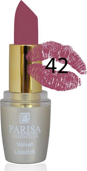 Фото - Parisa Помада для губ Mate Velvet, тон №42 розовая естественность, 3,8 г parisa помада для губ mate velvet тон 54 гранатовый иней 3 8 г