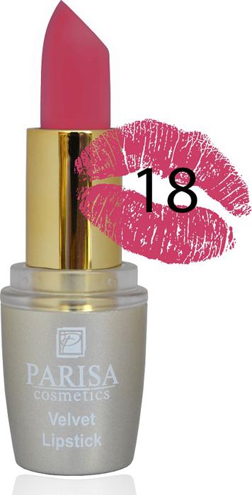 Parisa Помада для губ Mate Velvet, тон №18 розовый цветок, 3,8 г