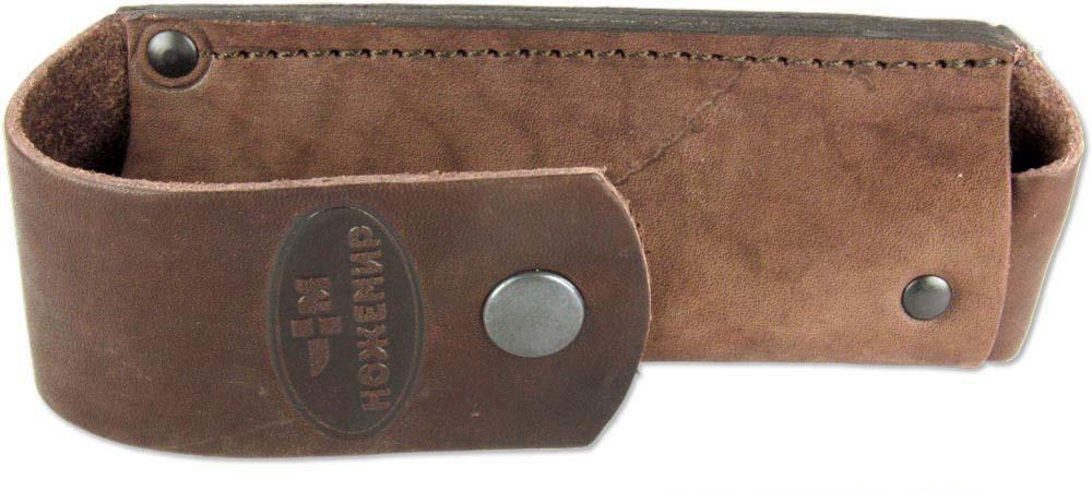 Чехол для складного ножа Ножемир, цвет: коричневый. Чехол №11(к)
