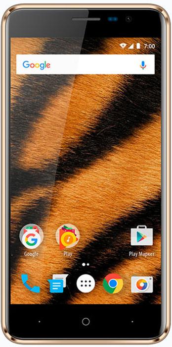 Смартфон Vertex Impress Tiger 1/8GB gold смартфон vertex impress tiger 4g gold