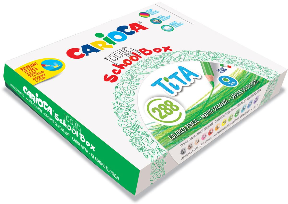 Carioca Набор цветных карандашей Tita 12 цветов 288 шт carioca набор крупных цветных карандашей tita maxi 6 цветов