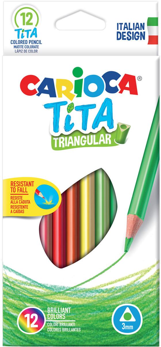 Carioca Набор цветных карандашей Tita 12 цветов трехгранные carioca набор крупных цветных карандашей tita maxi 6 цветов