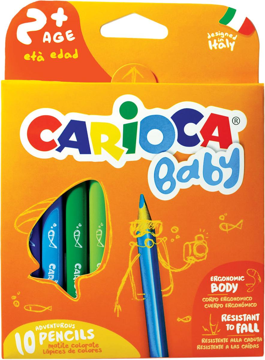 Carioca Набор экстра-крупных восковых карандашей Baby для детей carioca набор экстра крупных восковых карандашей baby для детей