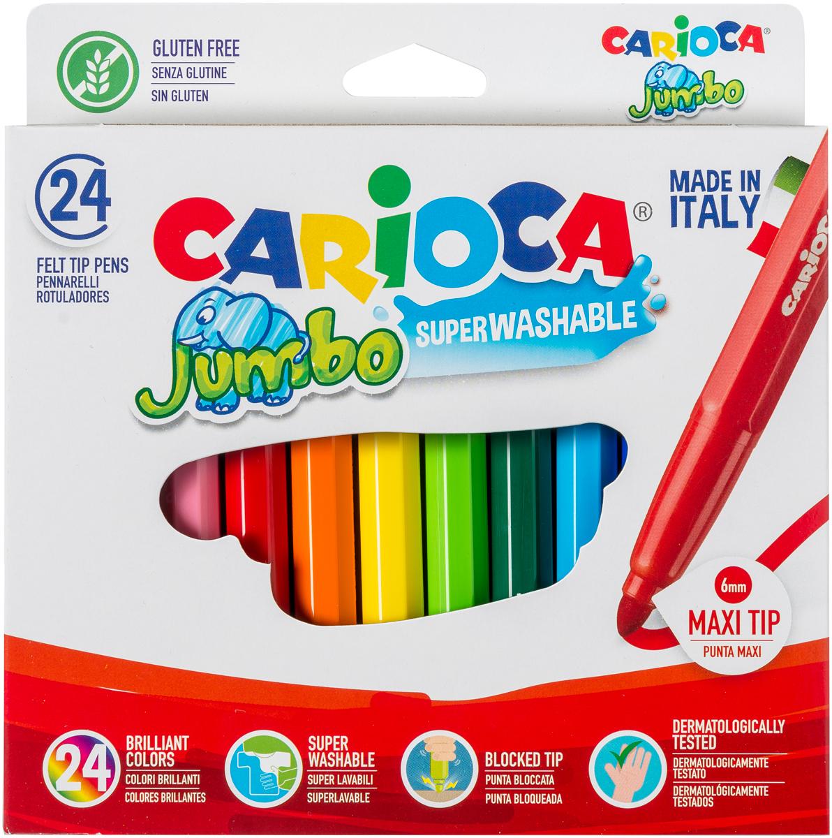 Carioca Набор фломастеровJumbo 24 цвета