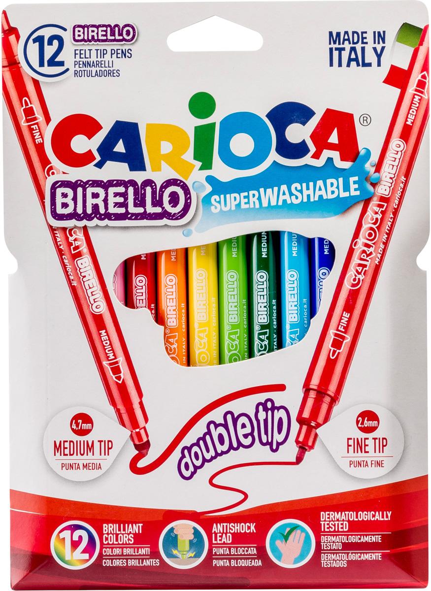Carioca Набор фломастеров Birello двусторонние 12 цветов carioca набор крупных пластиковых мелков plastello maxi 12 цветов