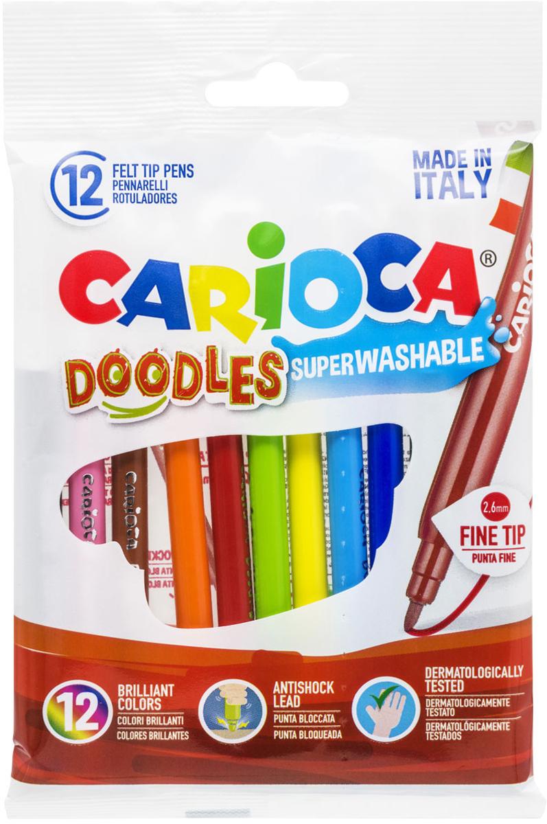 Carioca Набор фломастеров Doodles 12 цветов carioca набор пластиковых мелков plastello 12 цветов