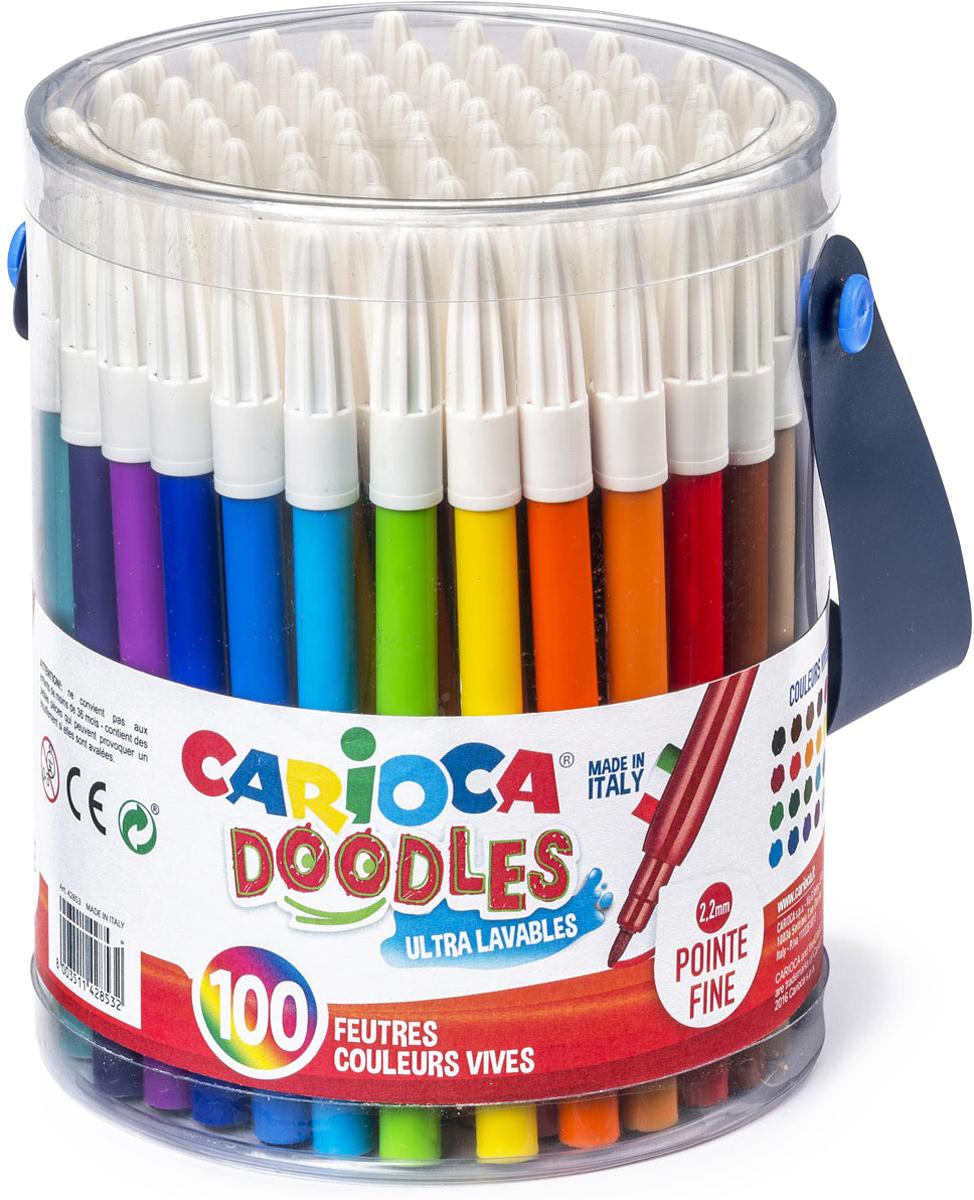 Carioca Набор фломастеров Doodles 100 шт
