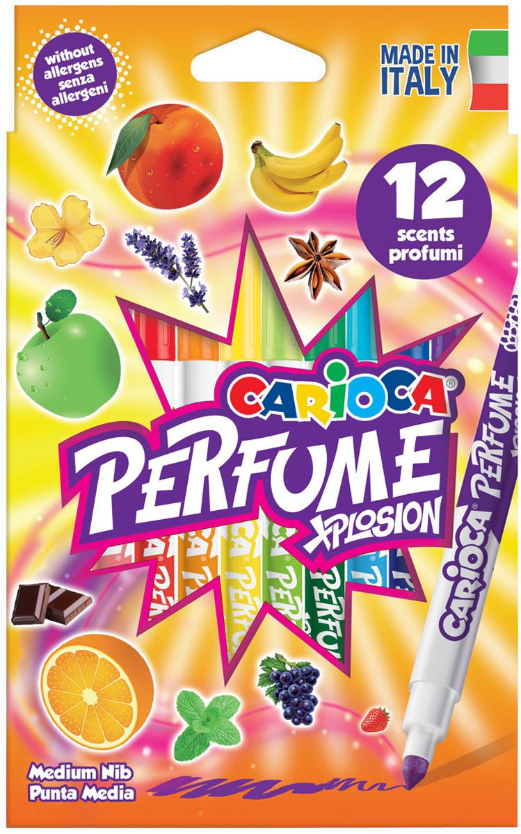 Carioca Набор ароматизированных фломастеров Perfume 12 цветов carioca набор пластиковых мелков plastello 12 цветов