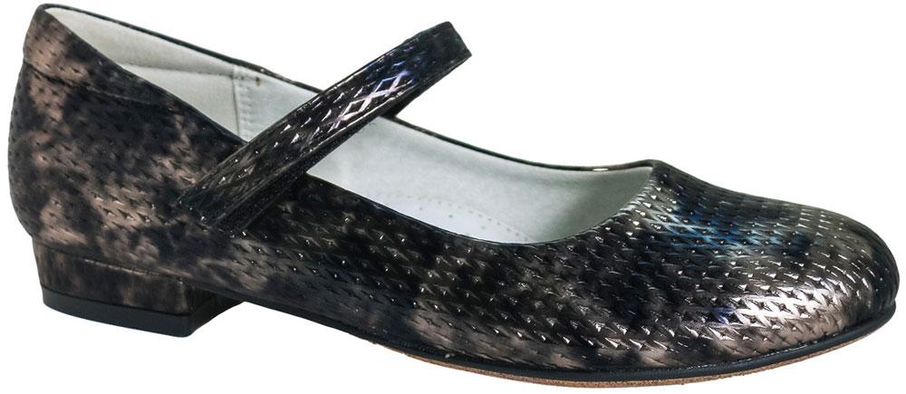 Туфли для девочки BiKi, цвет: черный. A-B23-99-A. Размер 34A-B23-99-A