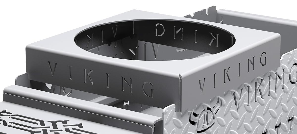 Подставка под казан Grillux VikinG, 37 х 37 х 7 см коптильня grillux smoky star взр2167 нержавеющая сталь
