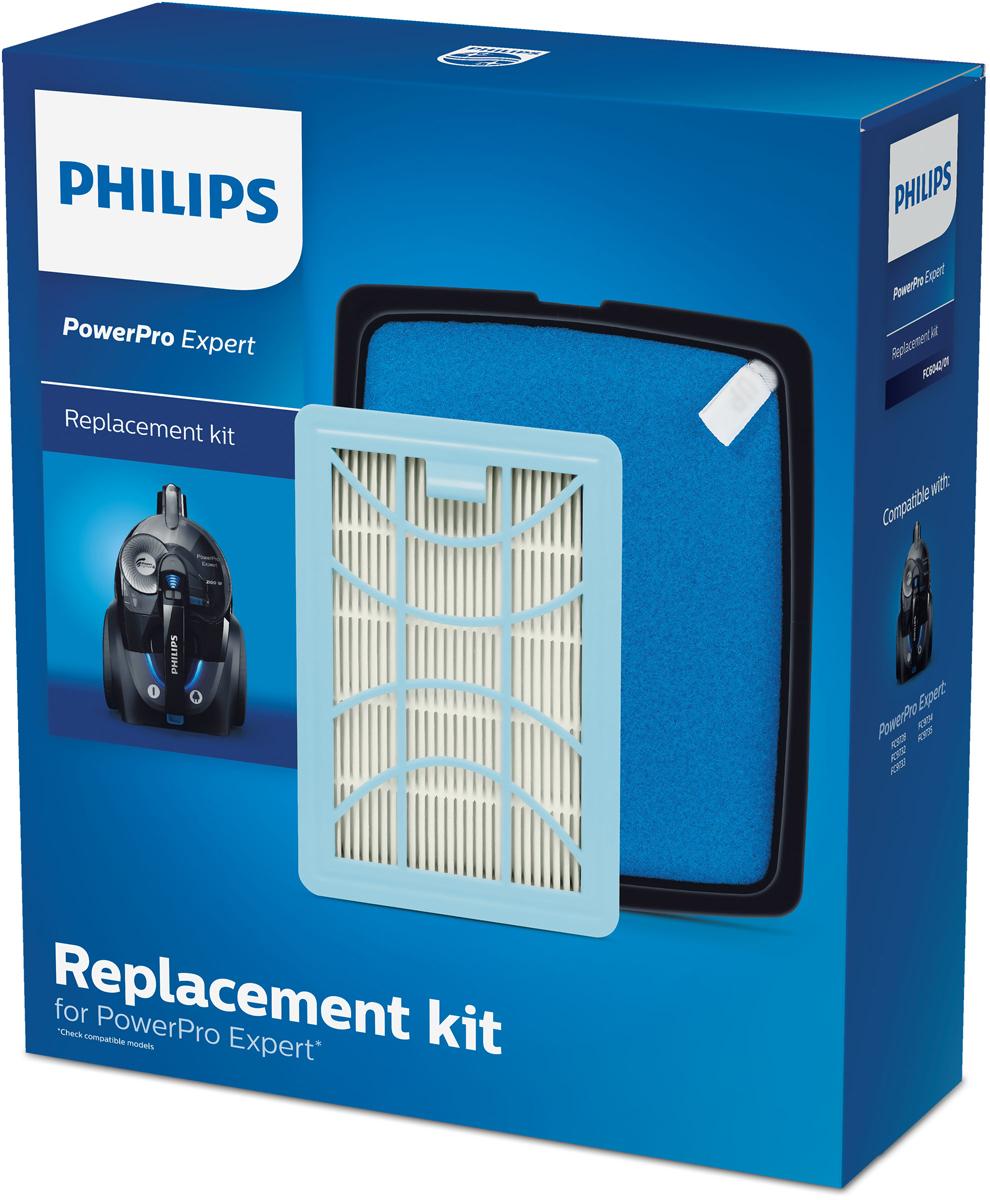 Philips FC6042/01 комплект фильтров для PowerPro Expert philips fc8065 01 набор аксессуаров для робот пылесосов smartpro compact