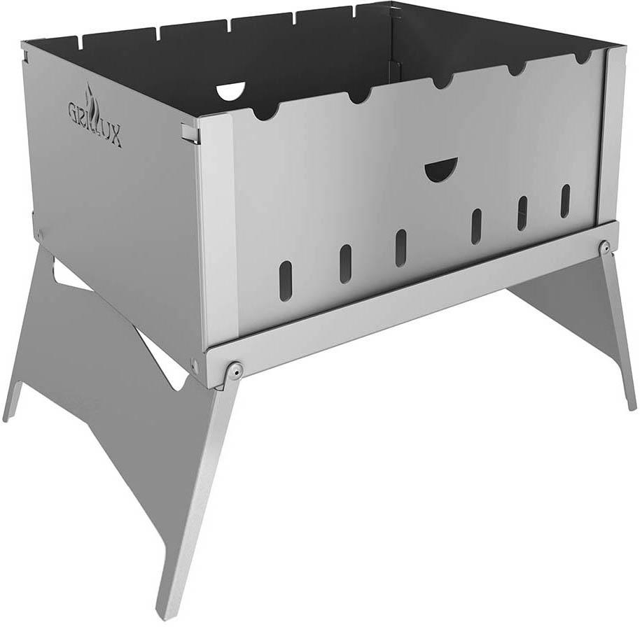 Мангал-трансформер Grillux Optimus, цвет: серый, 32 х 25 см