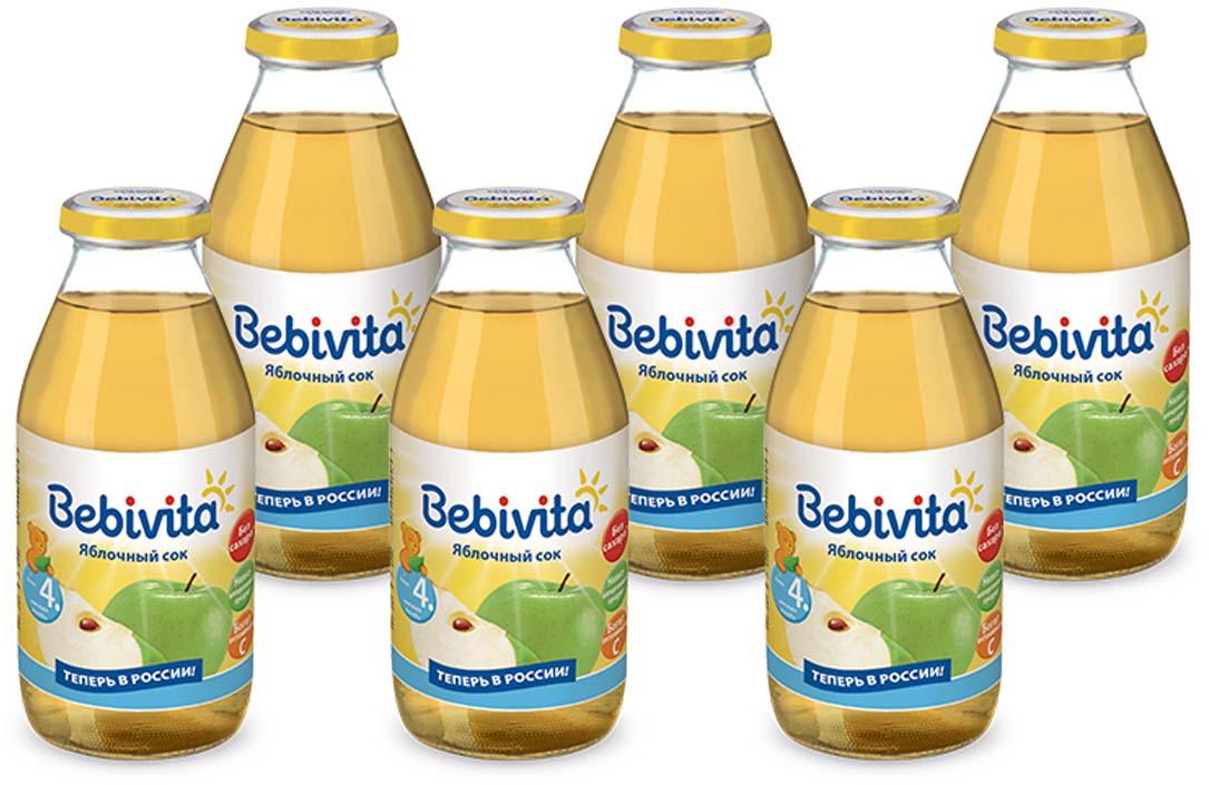 Bebivita сок яблочный восстановленный, осветленный, с витамином С, с 4 месяцев, 6 шт по 200 г