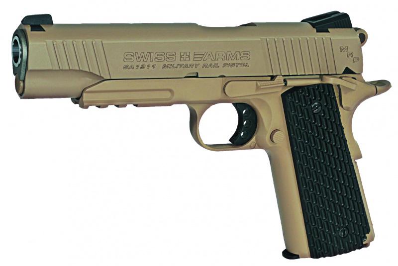 Пистолет пневматический Swiss Arms SA1911 Military Rail Pistol, 4,5 мм military jungle camouflage gun pistol holster
