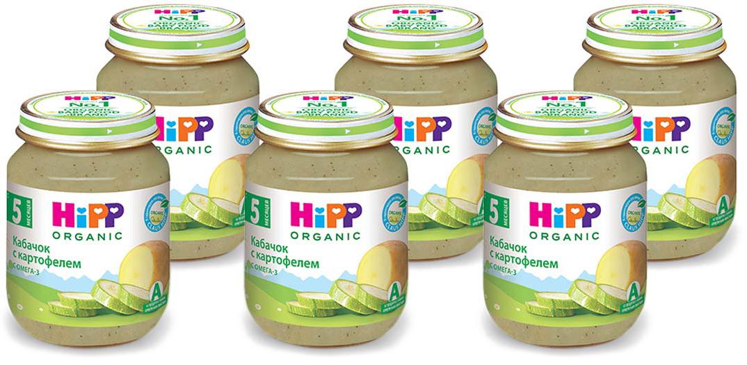 Hipp пюре кабачок с картофелем, с 5 месяцев, 6 шт по 125 г