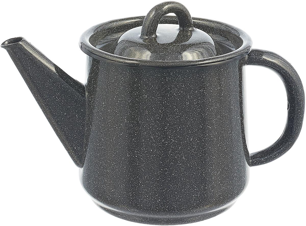 все цены на Чайник эмалированный СтальЭмаль, цвет: серый графит онлайн