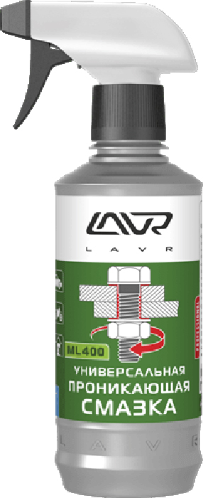 Проникающая смазка LAVR ML-400, с триггером, 330 мл cleaner brake disc lavr quick cleaning of brake and clutch 400 ml