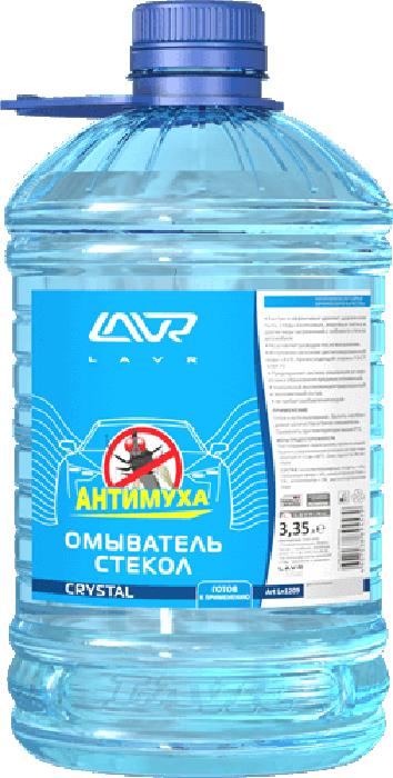 Фото - Омыватель стекол LAVR Crystal, анти-муха, 3,35 л омыватель стекол lavr orange анти муха концентрат 120 мл
