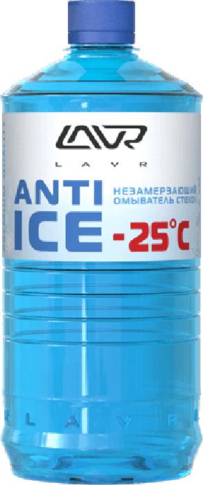 Фото - Незамерзающий омыватель стекол LAVR Anti-ice, -25 C, 1 л омыватель стекол lavr orange анти муха концентрат 120 мл