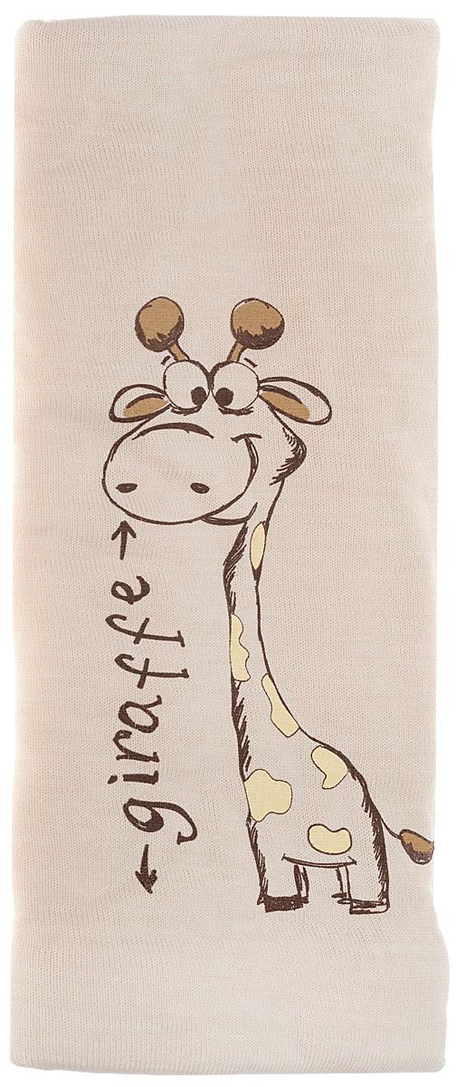 """Плед """"Жираф"""", цвет: светло-бежевый, 75 х 90 см"""