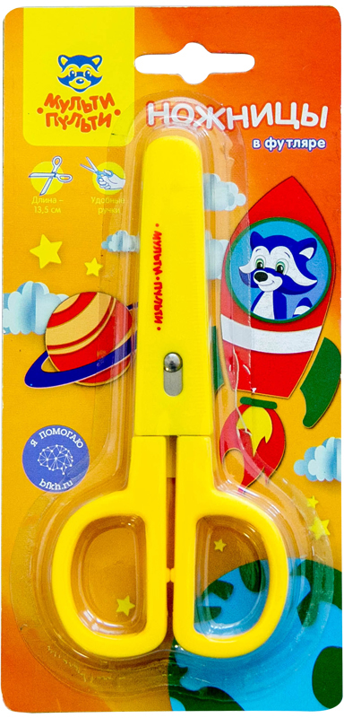 Мульти-Пульти Ножницы детские Приключения Енота 13,5 см мульти пульти ножницы детские приключения енота 13 5 см