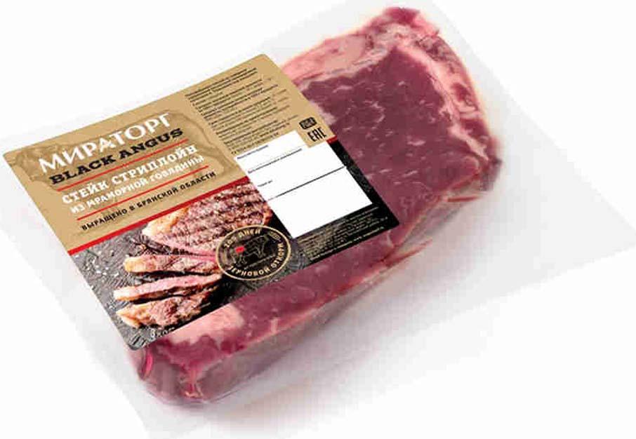 Стейк Стриплойн из мраморной говядины Black Angus Мираторг, 320 г