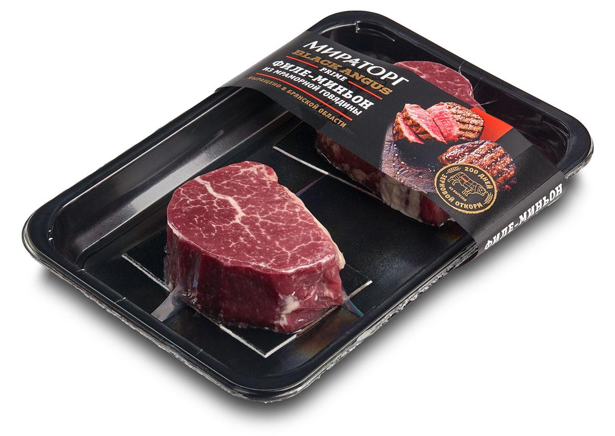 Стейк филе-миньон из мраморной говядины Prime Black Angus Мираторг, 380 г