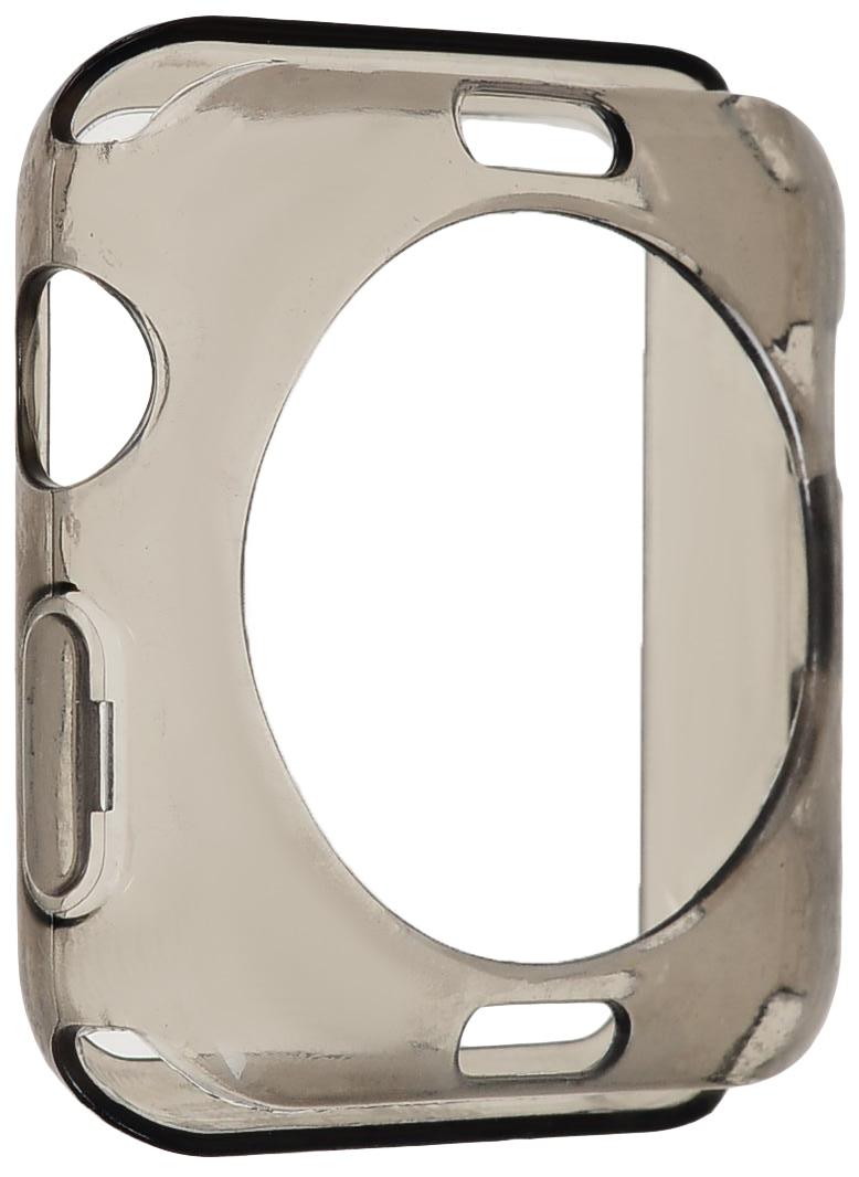 Чехол для смарт-часов Eva AWC005 для Apple Watch 42 мм, серый аксессуар чехол eva silicone для apple watch 38mm transparent avc005t