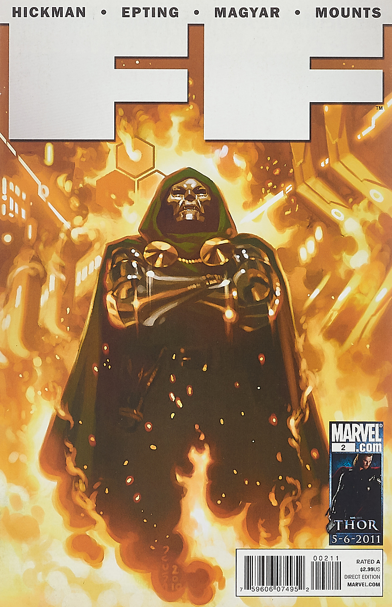 Jonathan Hickman, Steve Epting FF #2 charles epting silent film quarterly issue 5