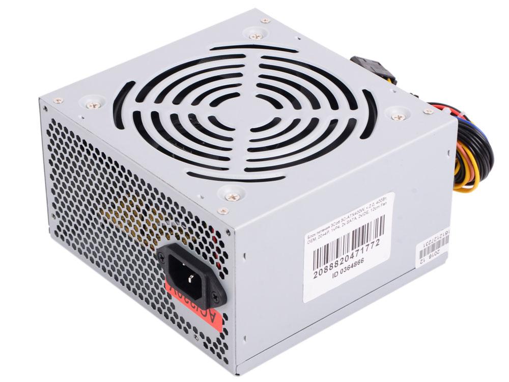 Блок питания компьютера 3Cott 3C-ATX400W цена и фото