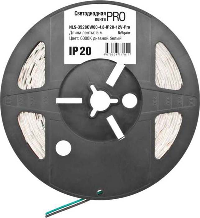 "Светодиодная лента ""Navigator"" 71 701 NLS-3528CW60-4.8-IP20-12V-Pro R5"
