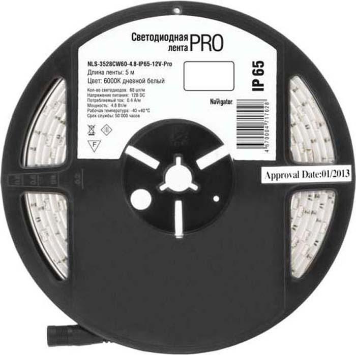 "Светодиодная лента ""Navigator"" 71 702 NLS-3528CW60-4.8-IP65-12V-Pro R5"