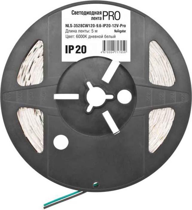 "Светодиодная лента ""Navigator"" 71 705 NLS-3528CW120-9.6-IP20-12V-Pro R5"