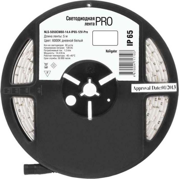 "Светодиодная лента ""Navigator"" 71 710 NLS-5050CW60-14.4-IP65-12V-Pro R5"