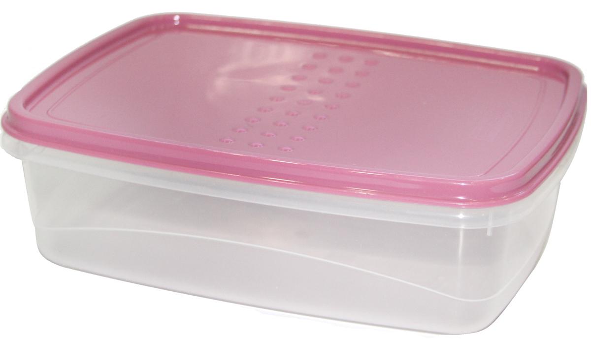 Емкость для хранения пищевых продуктов Plast Team Pattern Flex, цвет: пурпурный, 1,3 л емкость для хранения продуктов plast team pattern 0 8 л