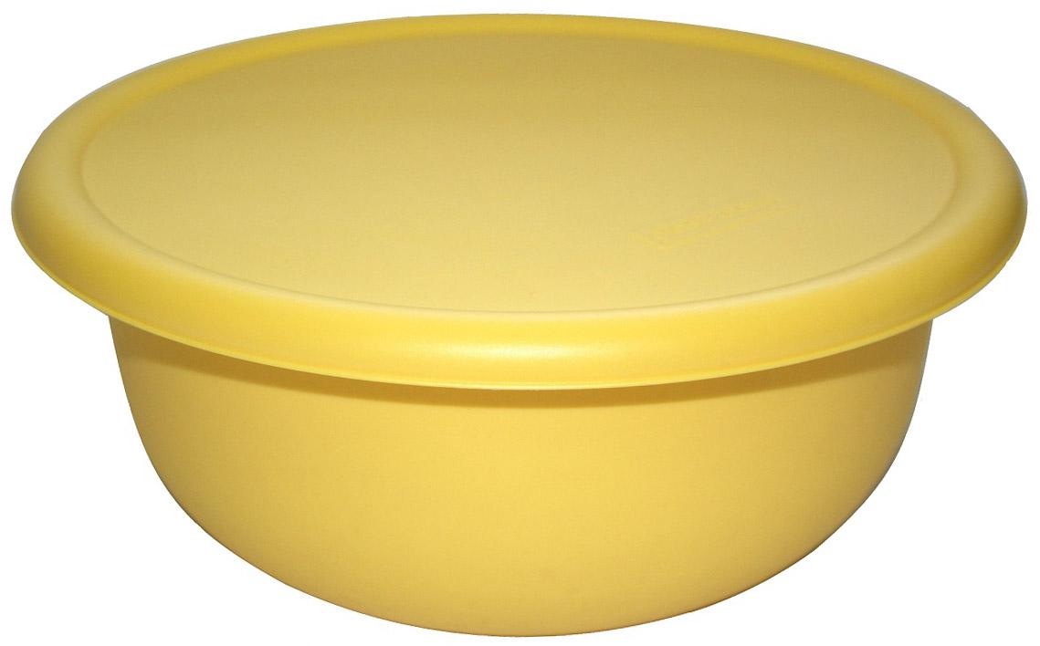 Миска Plast Team, с крышкой, цвет: охровый, 3,2 л емкость для хранения продуктов plast team pattern 0 8 л