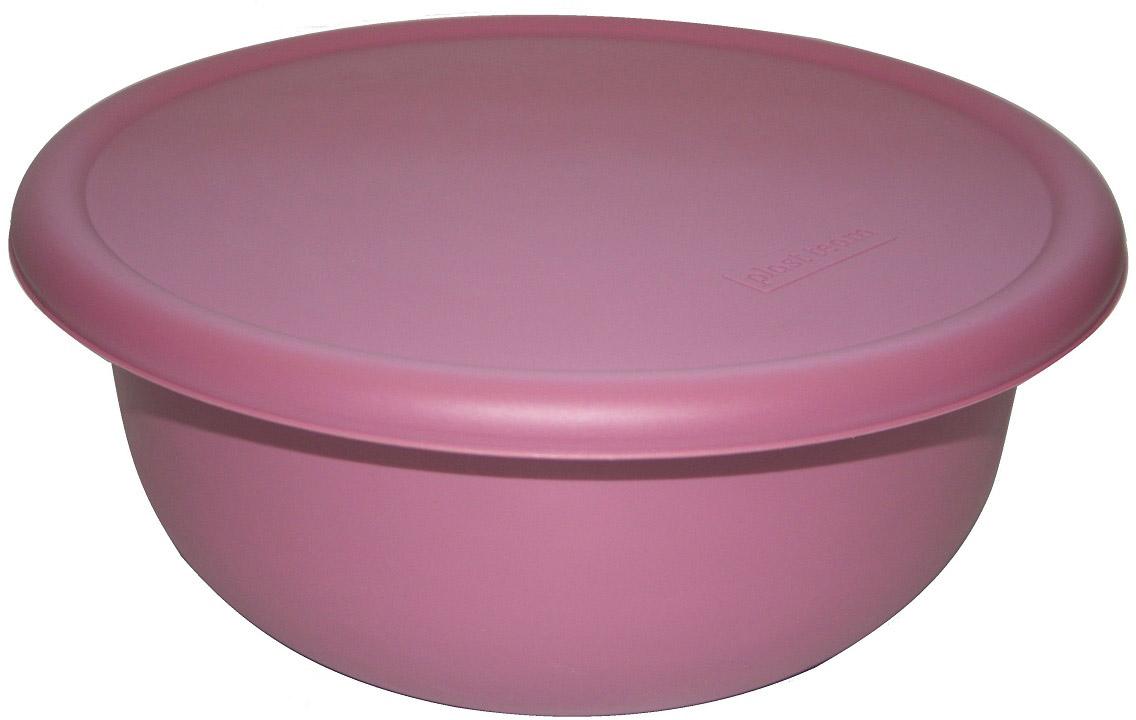 Миска Plast Team, с крышкой, цвет: пурпурный, 3,2 л емкость для хранения продуктов plast team pattern 0 8 л