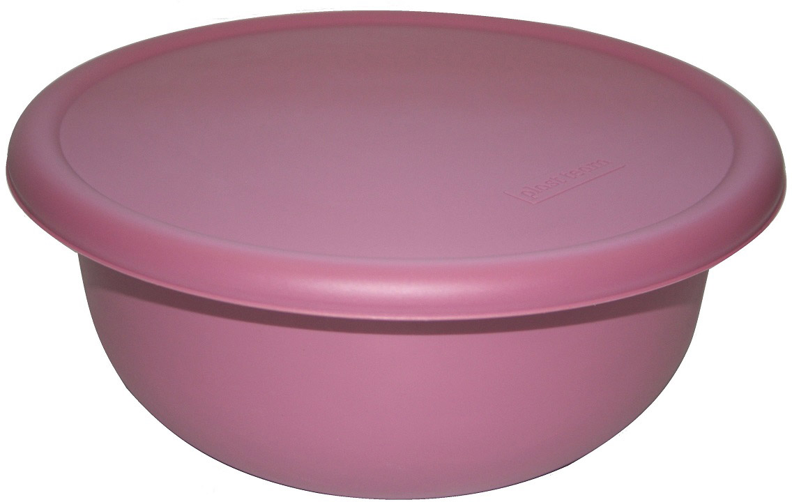 "Миска ""Plast Team"", с крышкой, цвет: пурпурный, 3,2 л"
