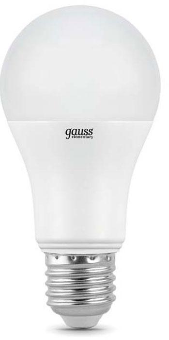 "Лампа светодиодная Gauss ""LED Elementary"", A60, 20Вт, E27, 2700К, 1/10/40. 23219"