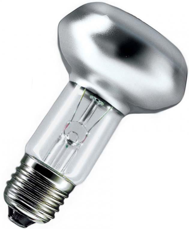 Лампа накаливания Philips, Refl, 60Вт, E14, 230В, NR50, 30D, 1CT/30923348744206Назначение:Лампы накаливания используются для всеобщего, местного и наружного освещения в быту и промышленности в сетях переменного тока напряжением 220 В частотой 50 Гц.Область применения:Используются в светильниках с цоколем Е27. На сегодняшний день такие лампы являются самыми дешевыми источниками света. Они используются без пускорегулирующего устройства и работают они без шума и мерцания.Принцип действия:Конструкция лампы состоит из стеклянной колбы матового цвета, заполненной инертным газом. Основу устройства составляет тело накала или вольфрамовая спираль, которая под воздействием электрического тока начинает излучать свечение. Мощность ламп 60 Вт. Дополнительные принадлежности или аксессуары: