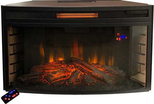 Электроочаг RealFlame Firespace 33W S IR, цвет: черный realflame электроочаг realflame leeds 33 ddw
